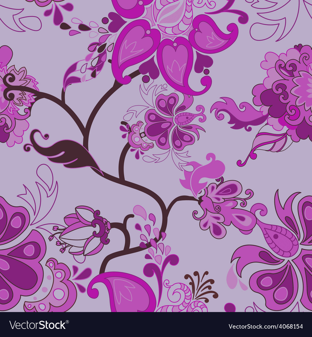 Decorative Floral Boho Seamless Pattern Royalty Free Vector