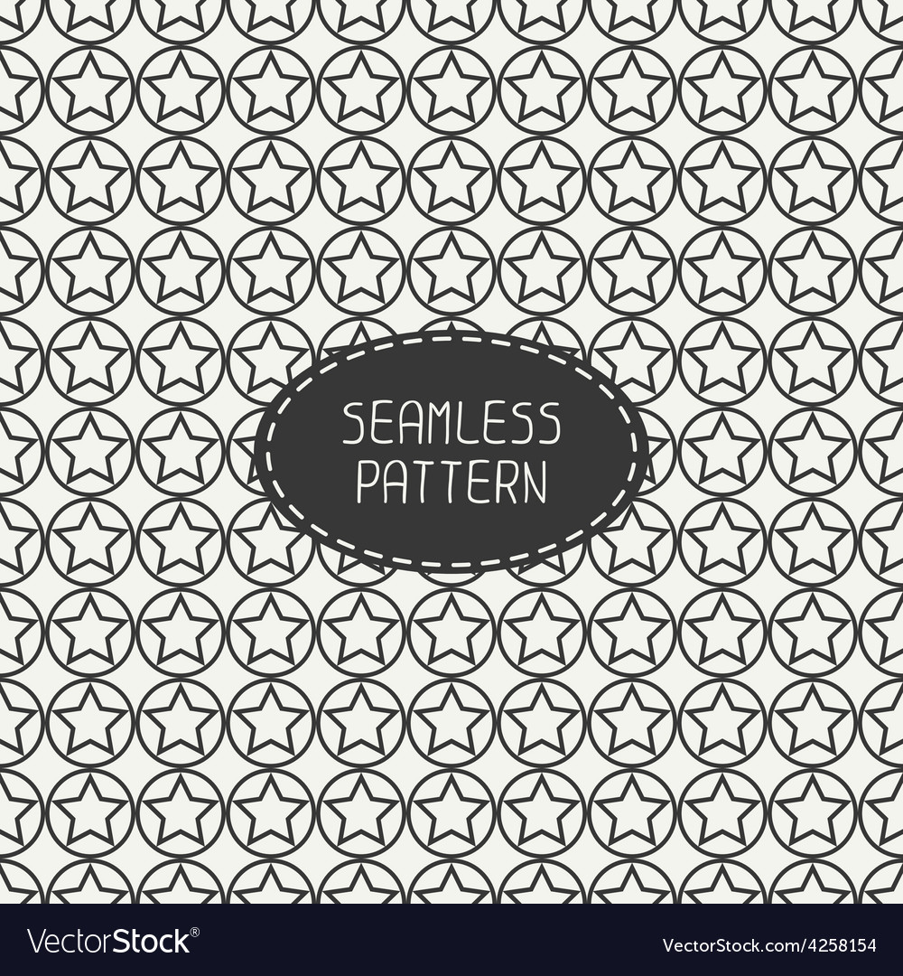 Geometric seamless pattern with stars Wrapping vector image