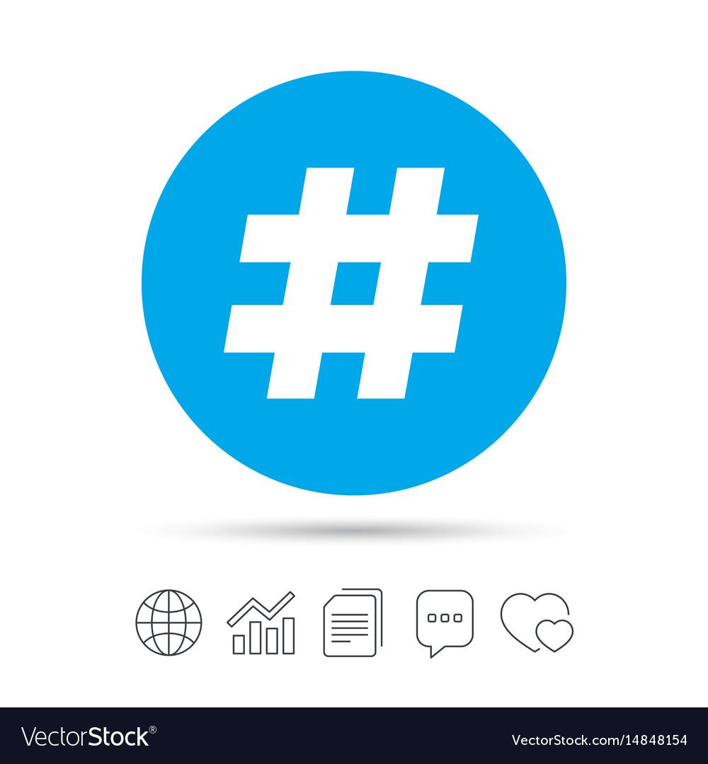 Hashtag sign icon social media symbol vector image