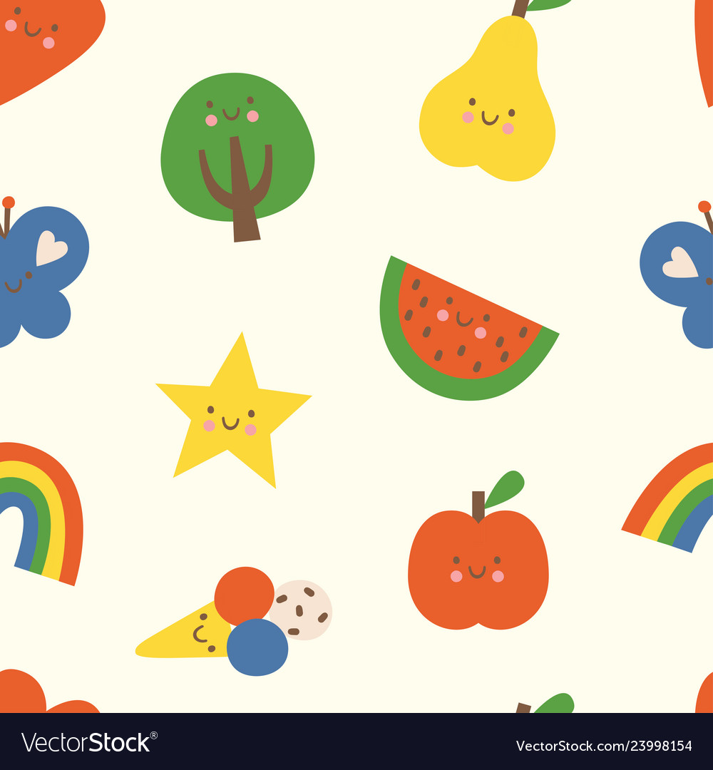 Lovely colorful seamless pattern with heart