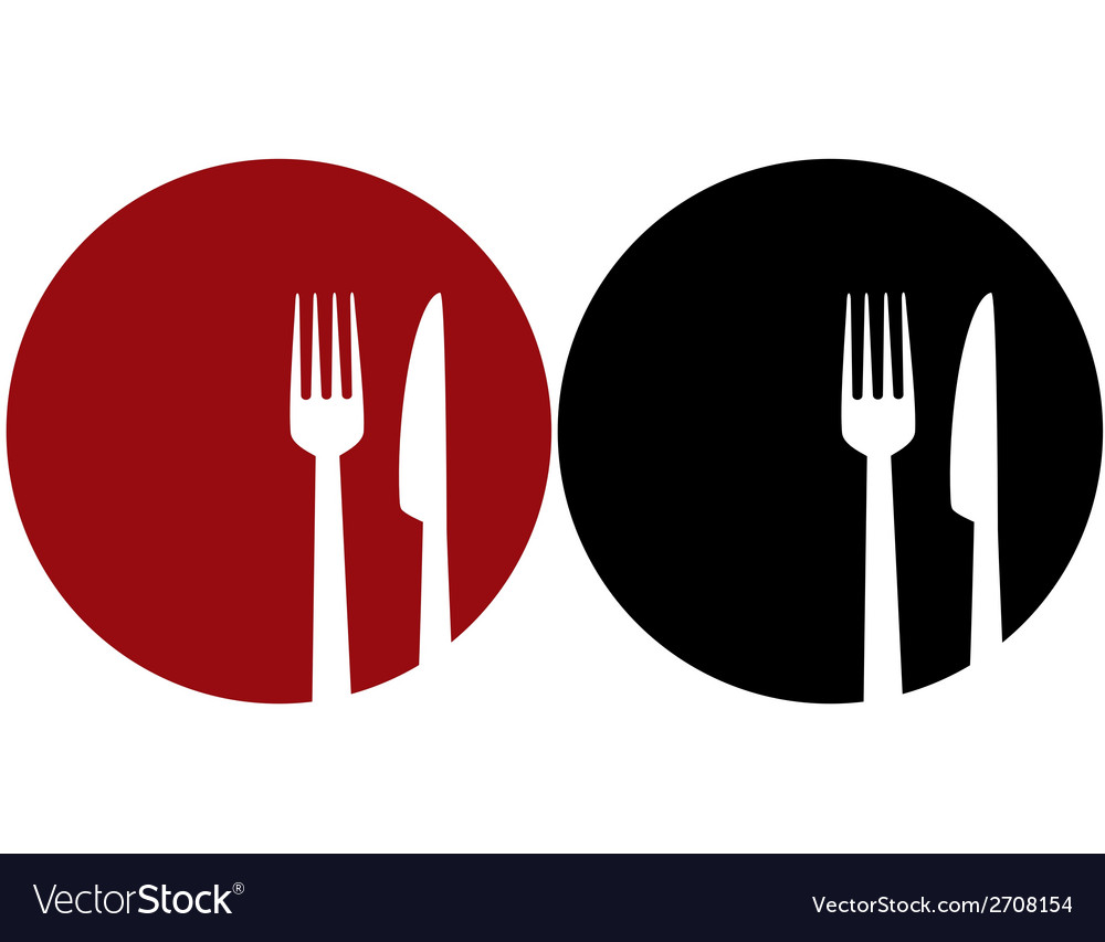Plate with fork and knifeXJADEHIGFSYDZRRNXQWT vector image
