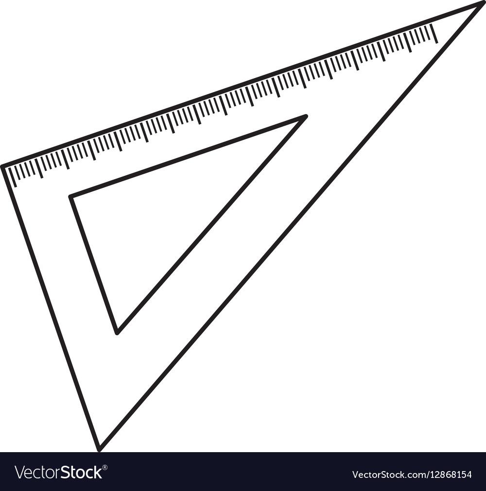 Set Square Ruler Royalty Free Vector Image Vectorstock