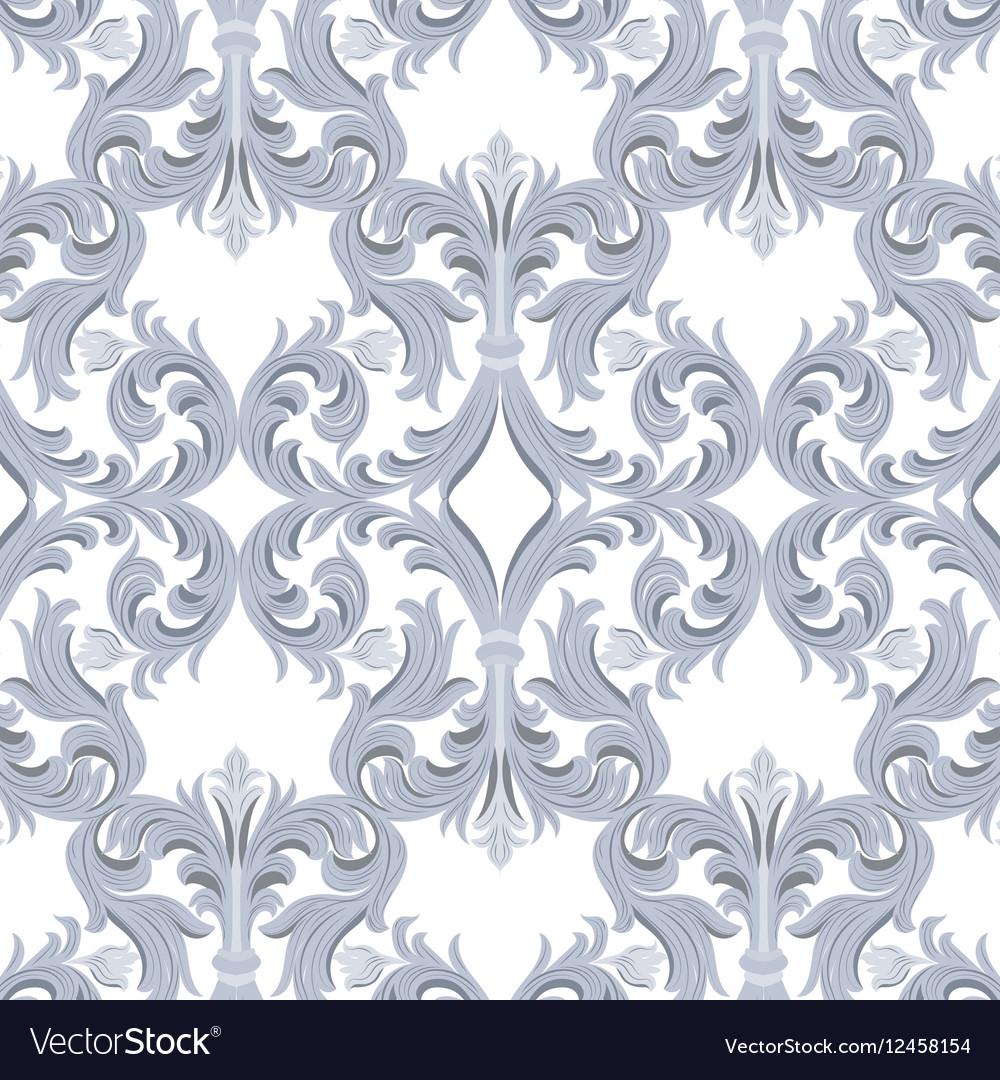 Vintage Baroque Luxury ornament pattern vector image