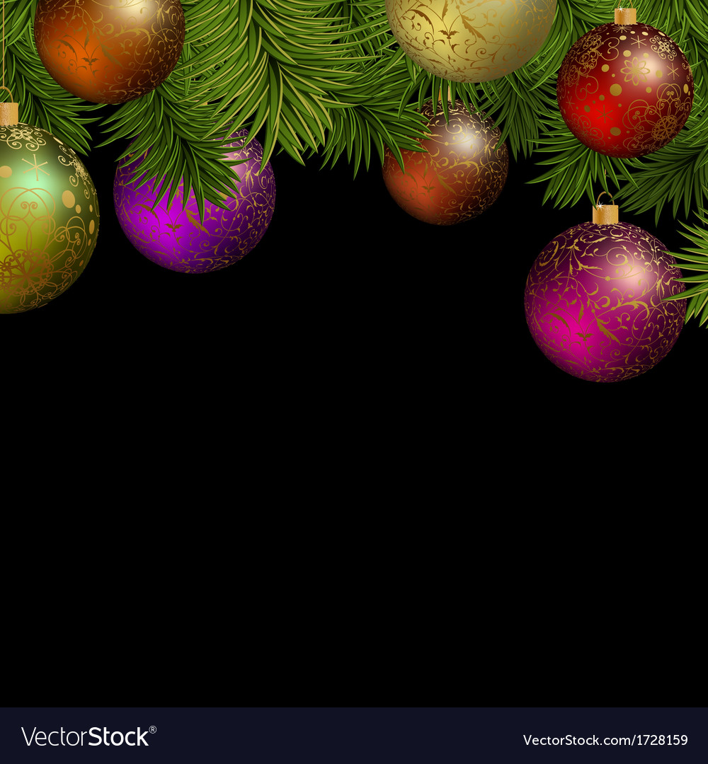 Christmas greeting card with colorful balls