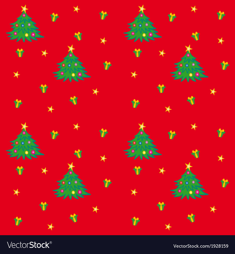Christmas tree texture vector