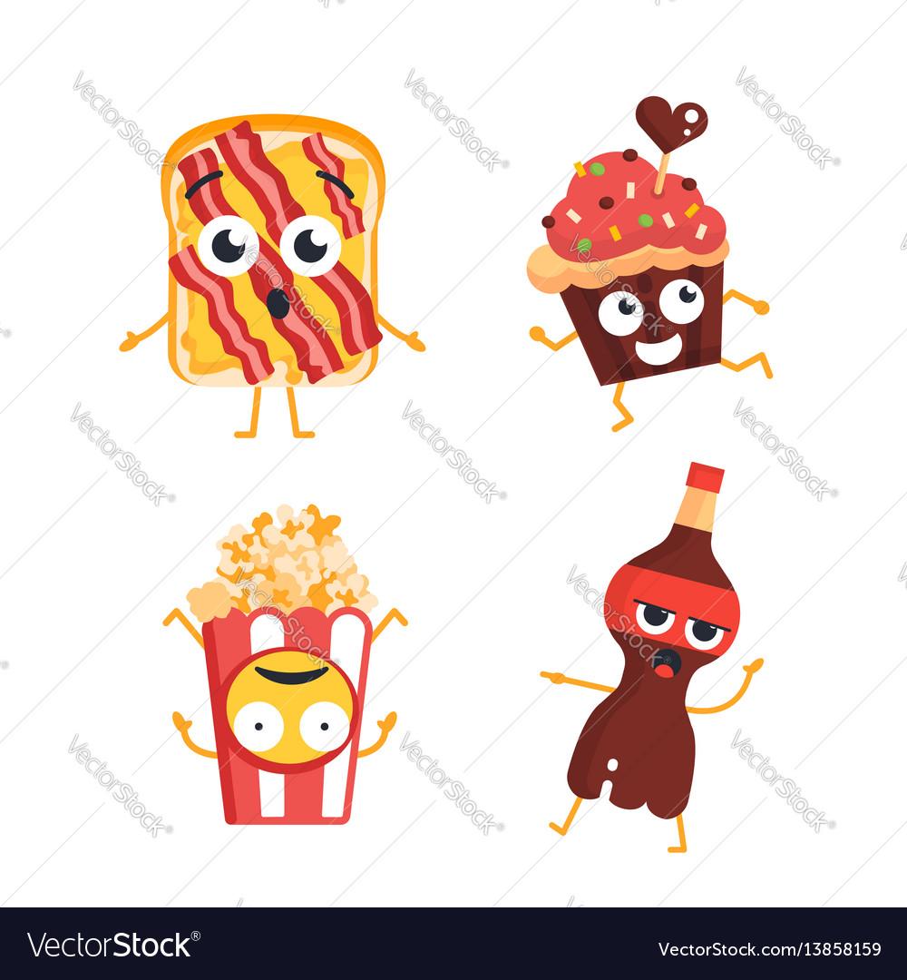 Fast food characters - set of mascot