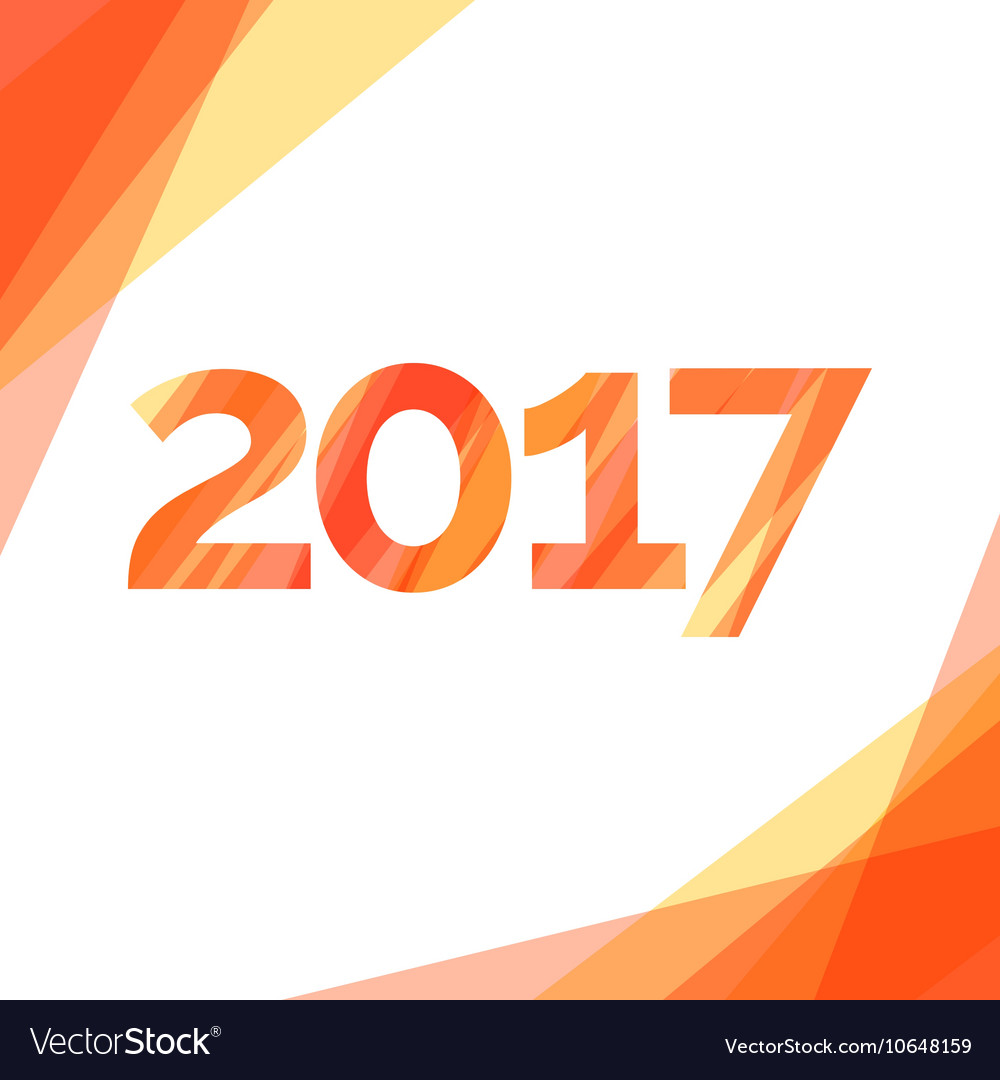 Happy new year 2017 creative greeting card design vector image m4hsunfo