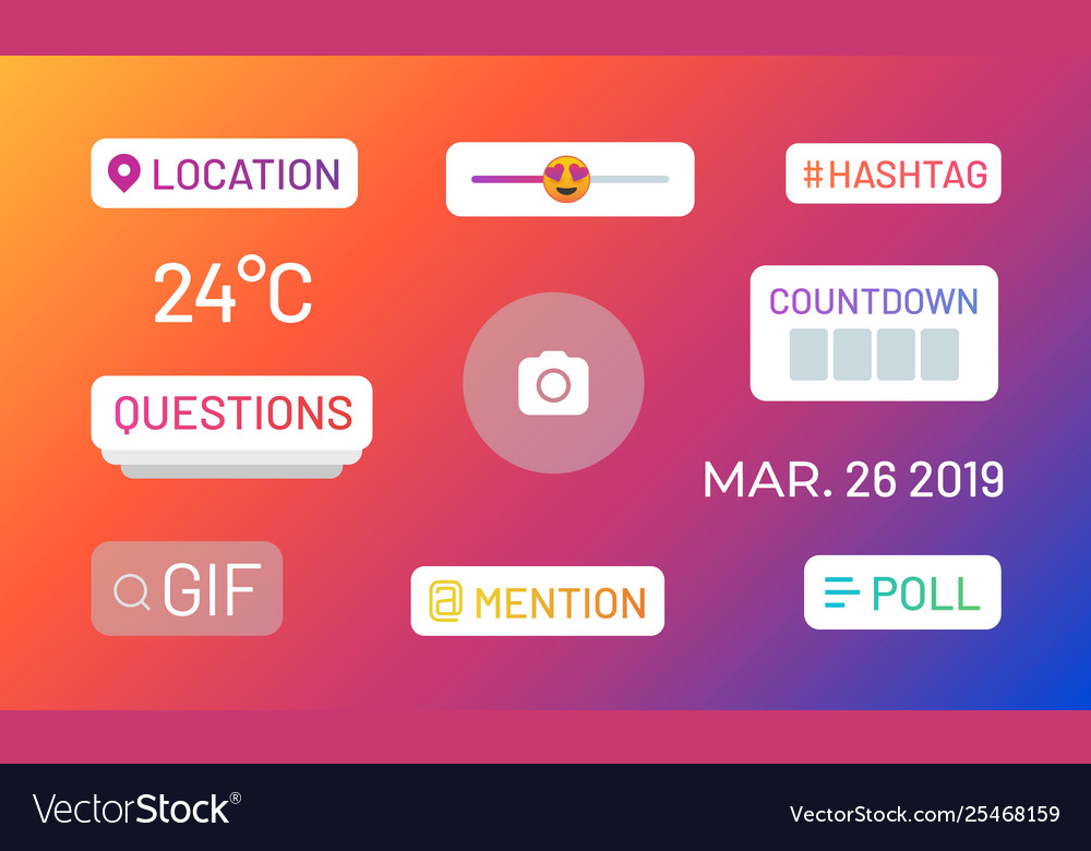 Instagram stories polls social media icons and