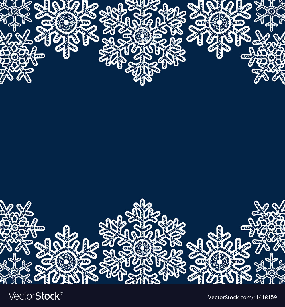 Lace snowflakes borders