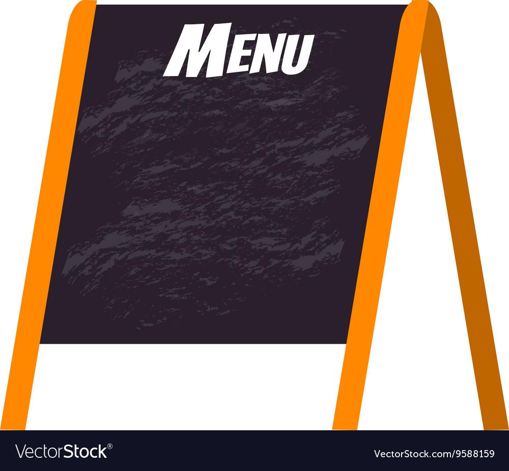 Menu board vector image
