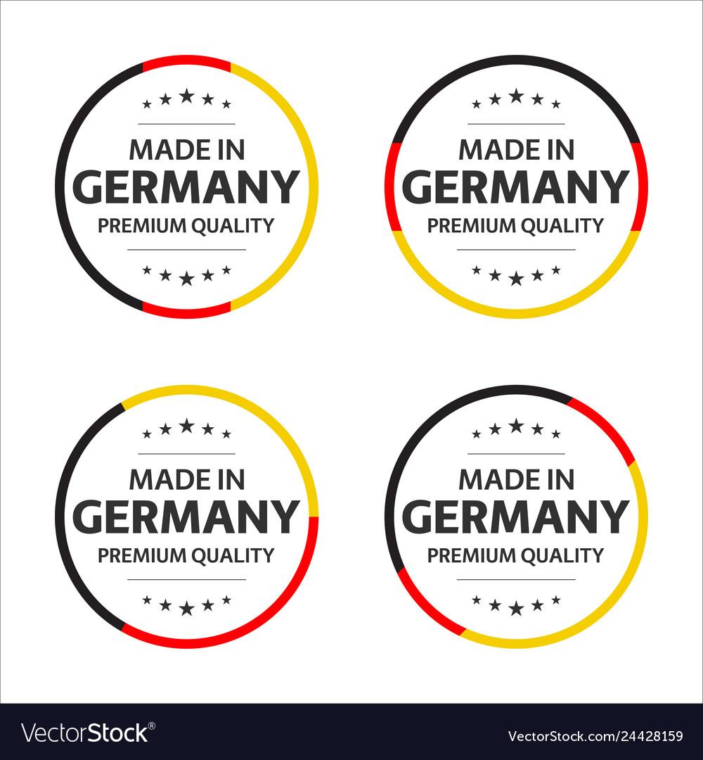 Set of four german icons english title