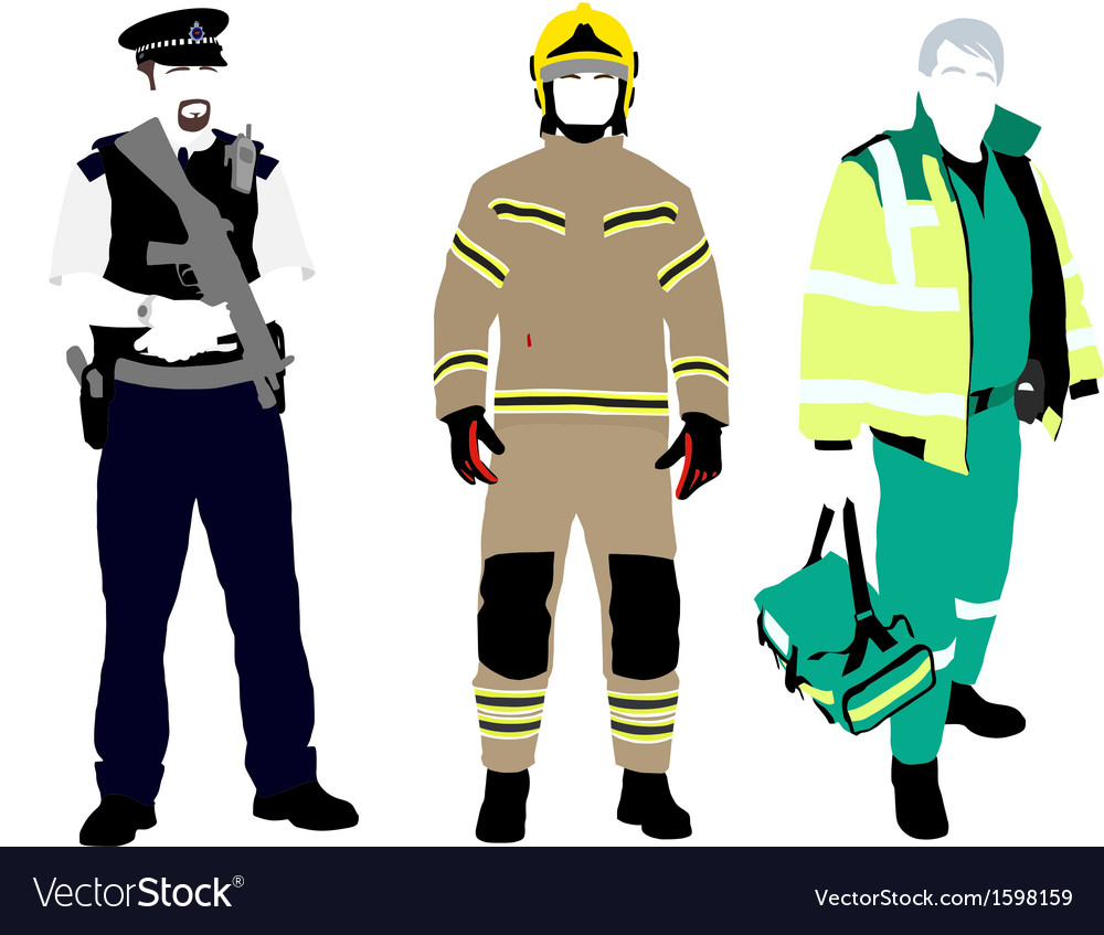 uk emergency services royalty free vector image