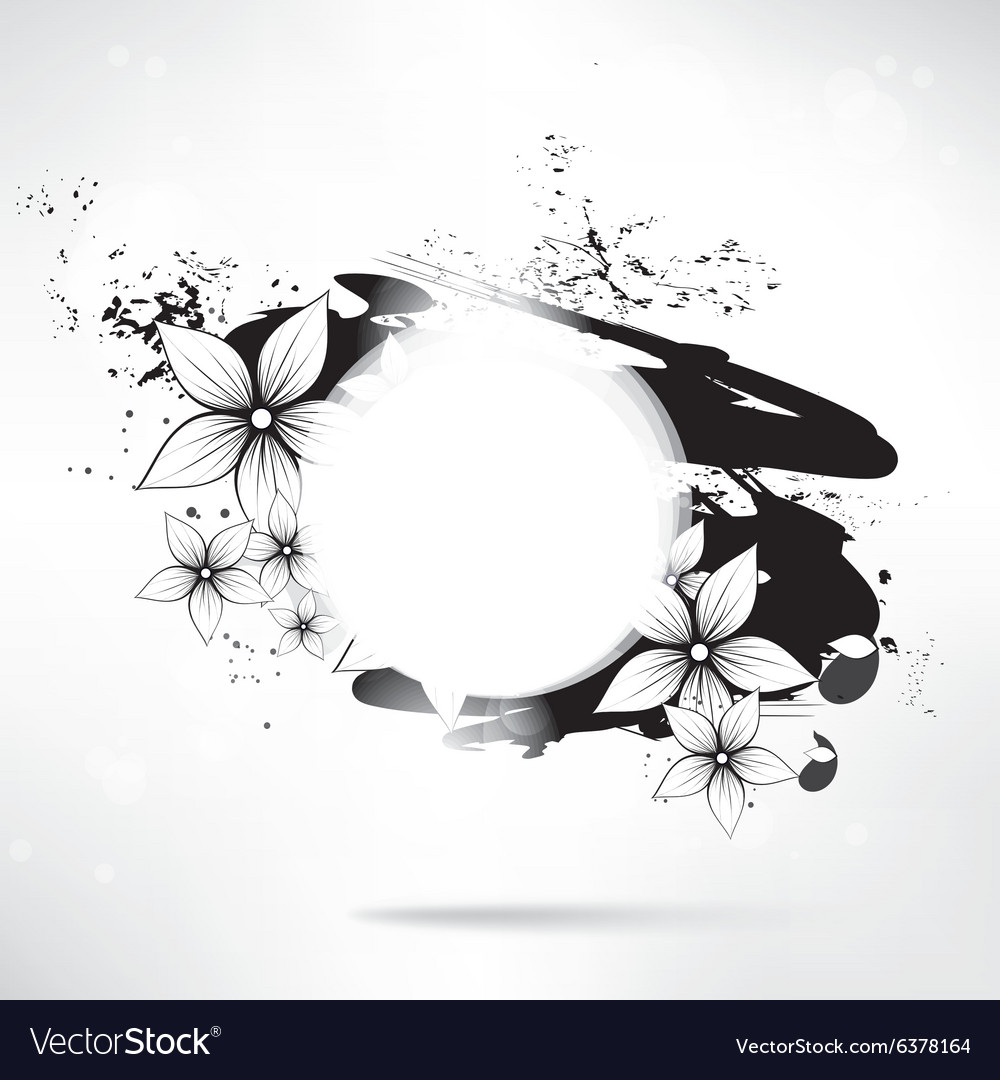 Abstract floral background with frame for text