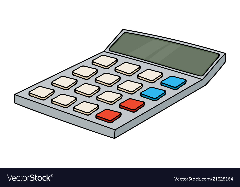 Calculator colored doodle style