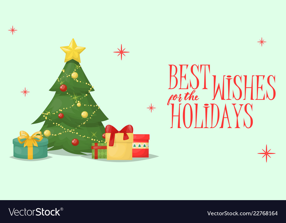 Christmas card xmas greeting decoration holiday Vector Image