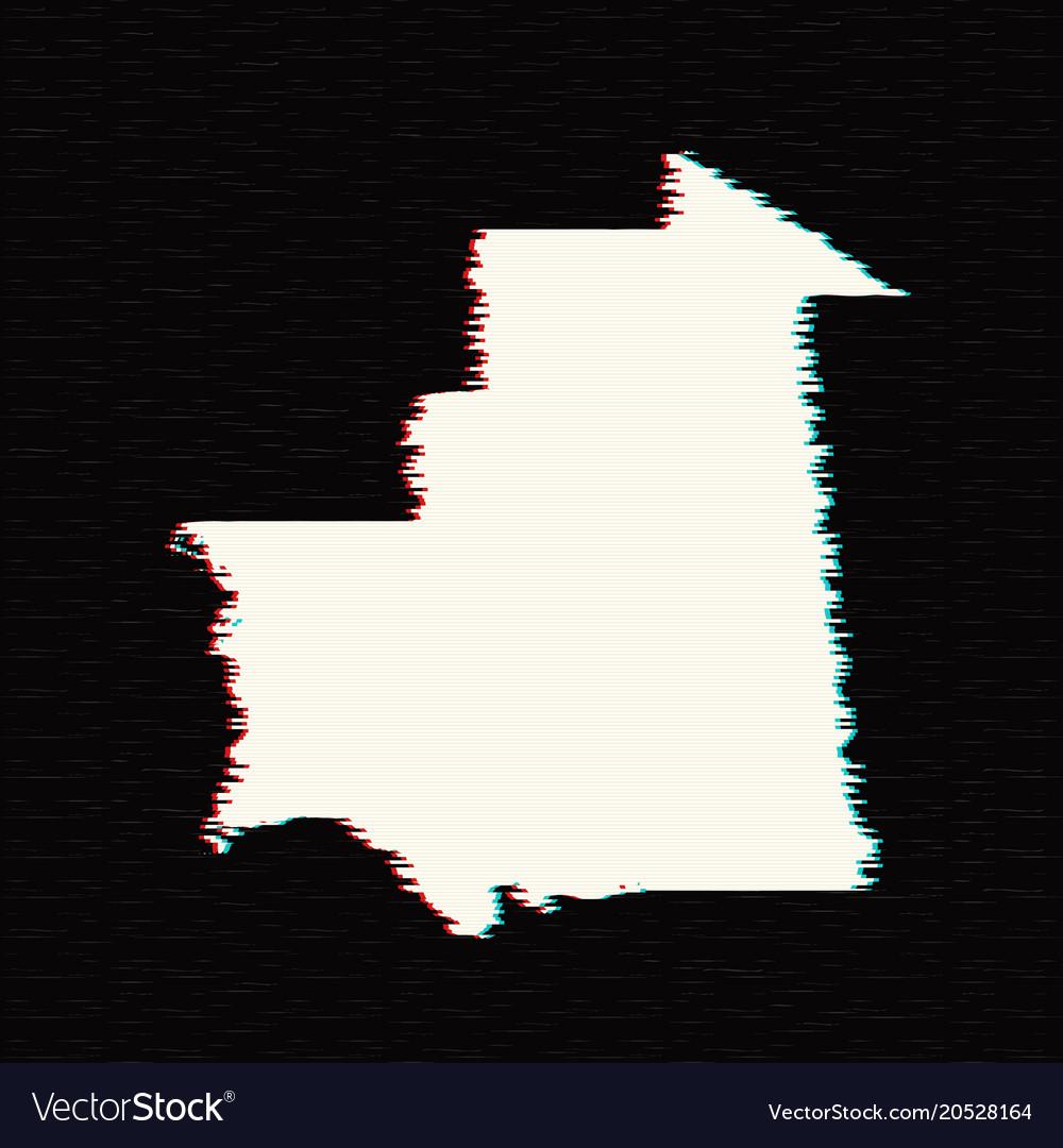 Map mauritania isolated
