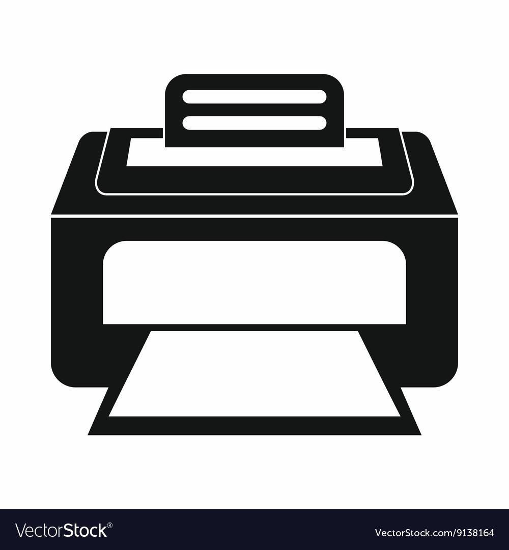 Printer Icon Greyed: Modern Laser Printer Icon Simple Style Royalty Free Vector