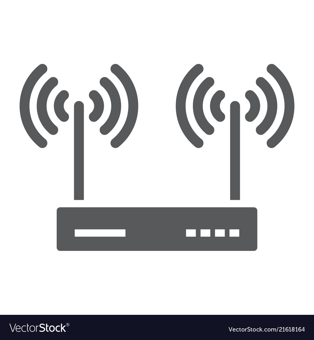 Wifi router glyph icon electronic and network
