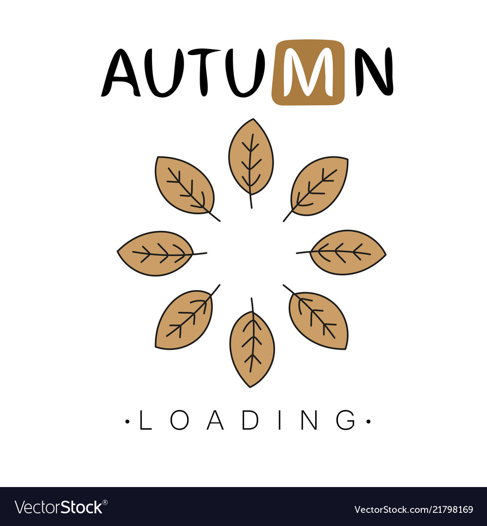 Autumn loading autumn begins creative concept