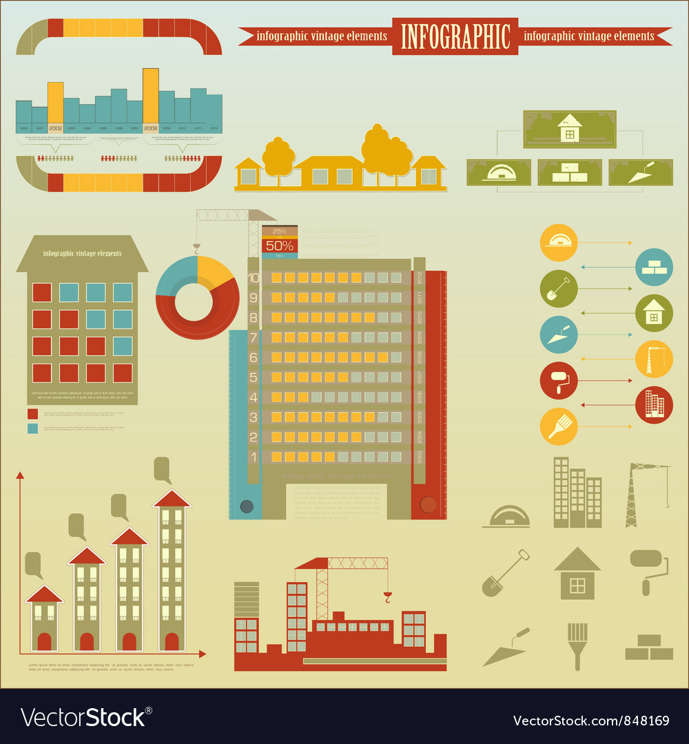 Construction Icons and graphics vector image