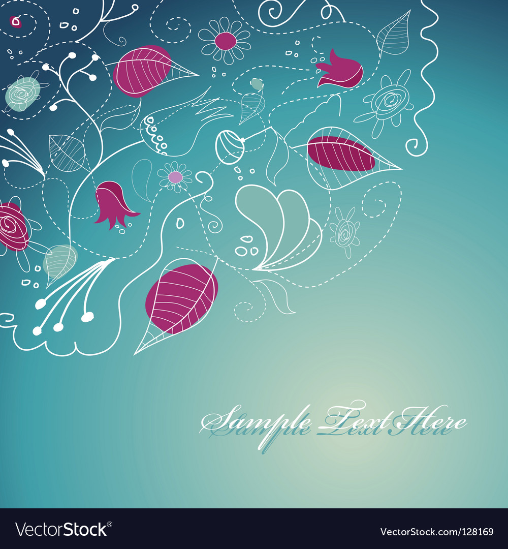 Flowery template Royalty Free Vector Image - VectorStock