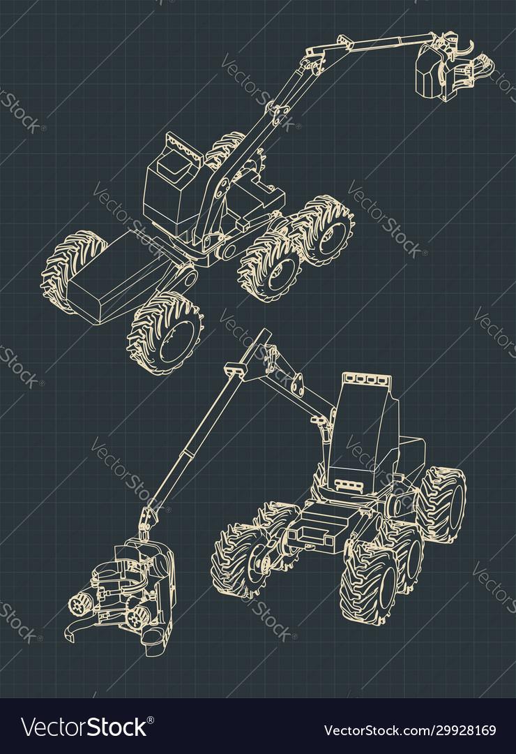 Forest harvester machine