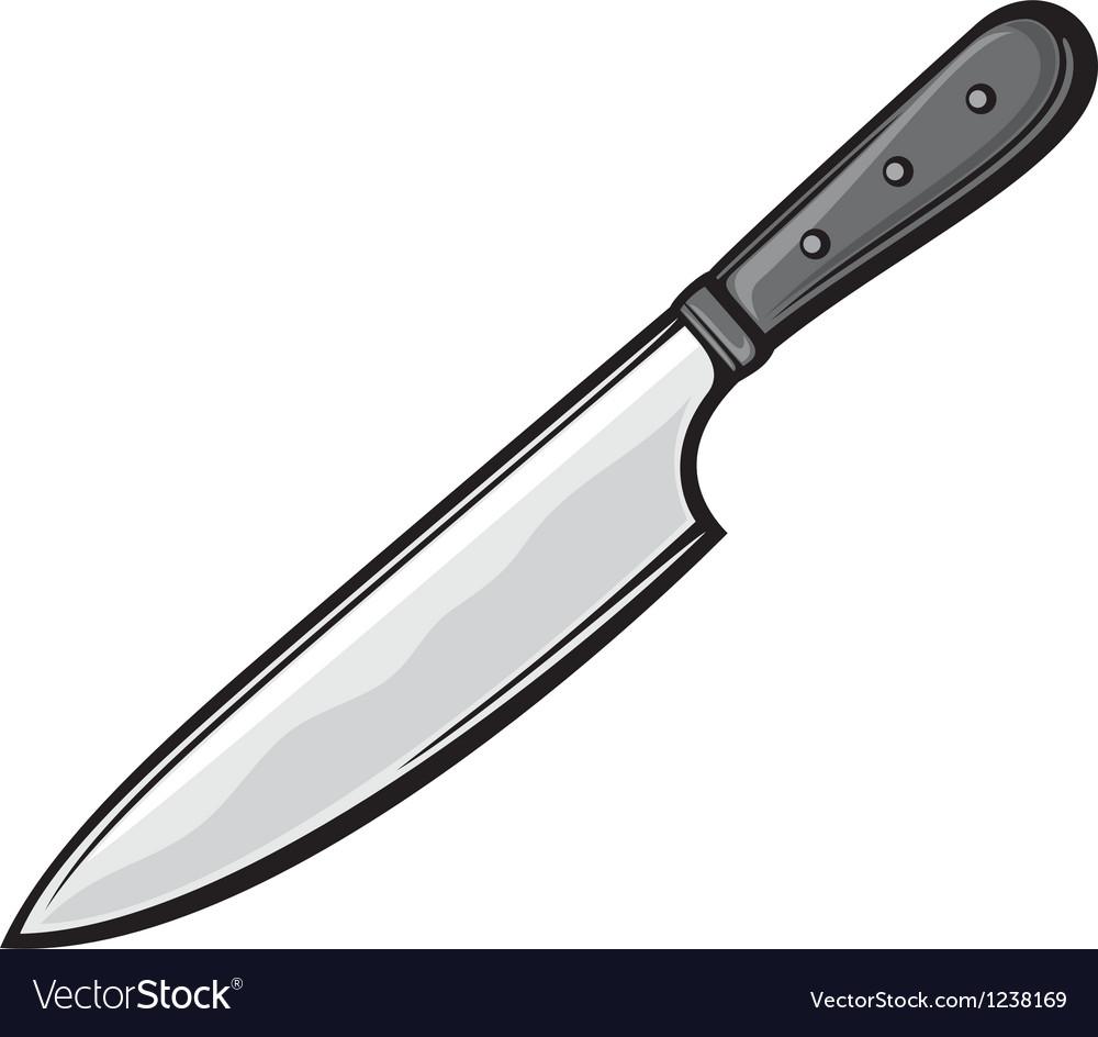 Kitchen knife vector image