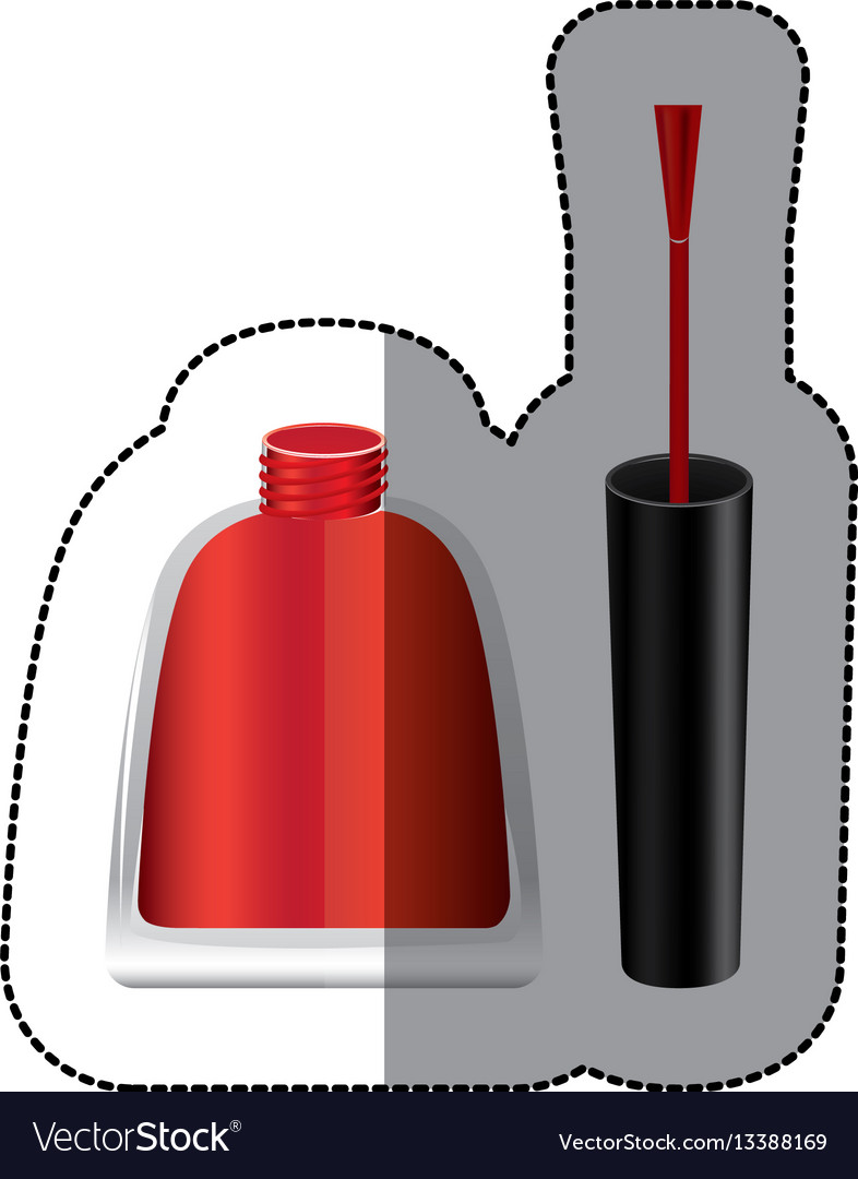 Red nails polish icon vector image