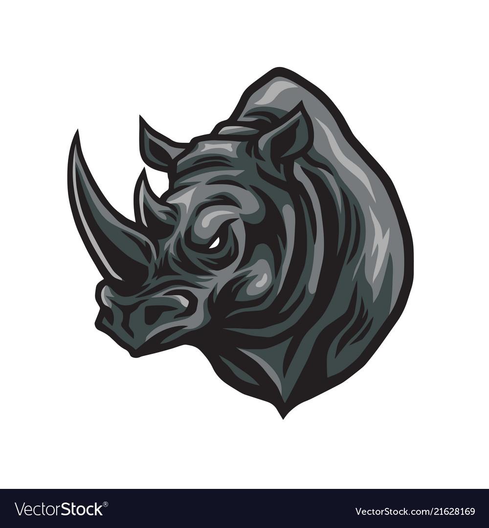 Rhino head logo design icon