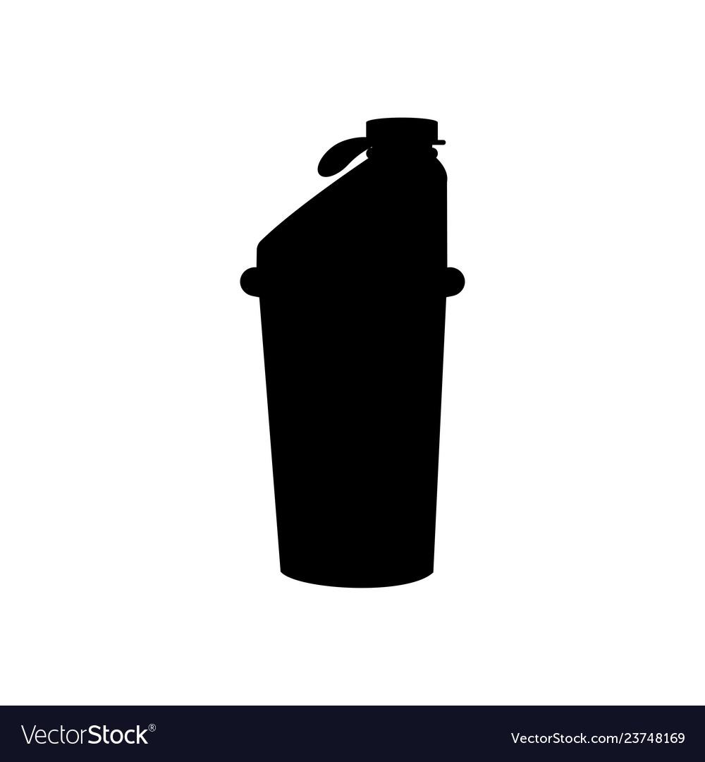 Sport shaker blender bottle silhouette fitness