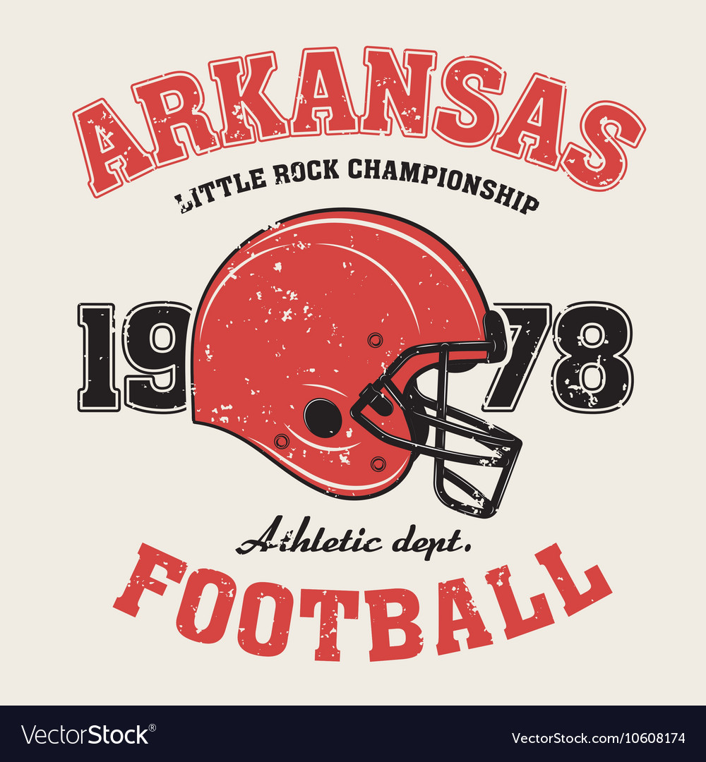 Arkanzas t shirt with football helmet vector image