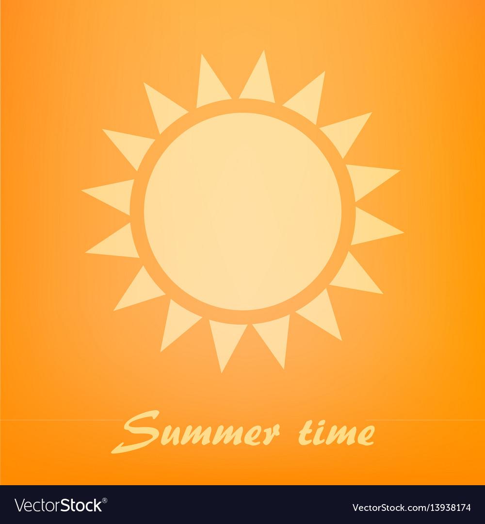 Beautiful orange background with sun icon