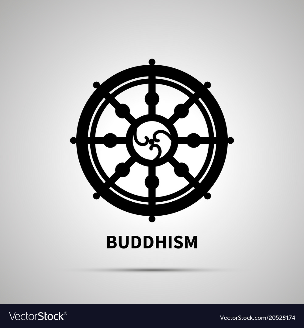 Buddhism Religion Simple Black Icon Royalty Free Vector
