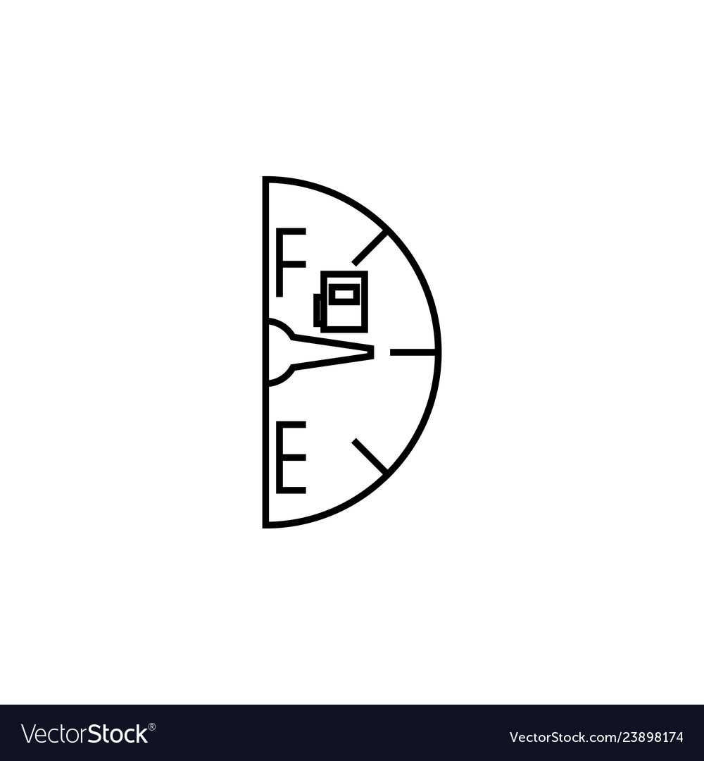 Fuel gauge icon element of racing for mobile