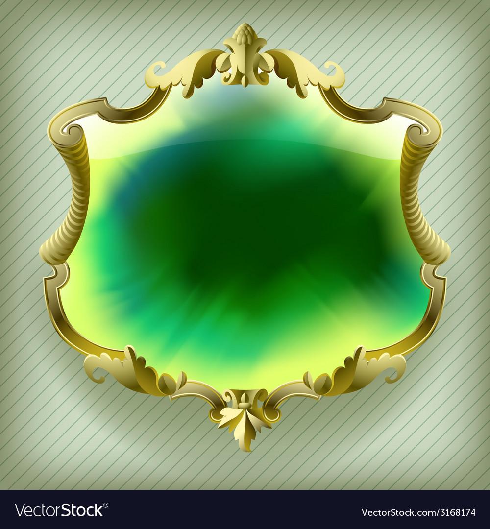 gold baroque frame royalty free vector image vectorstock