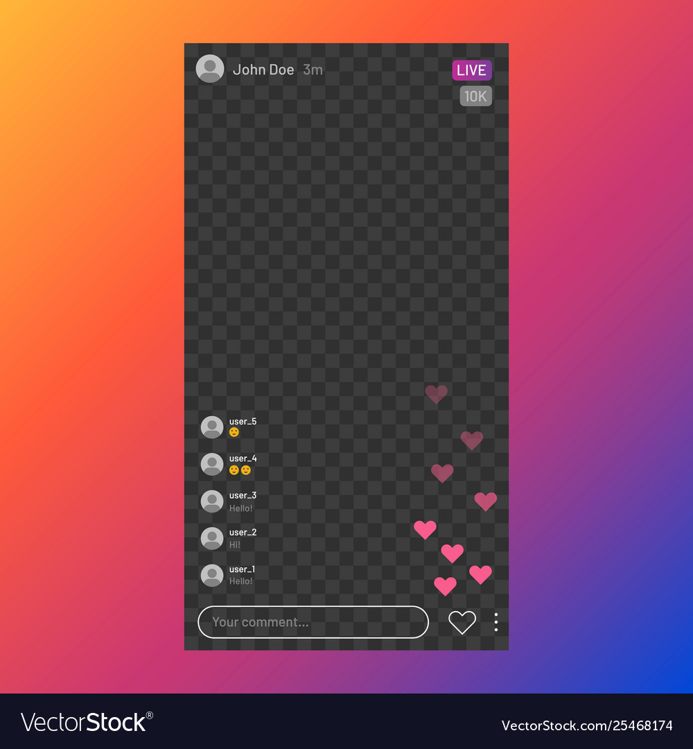 Instagram stream interface social media live