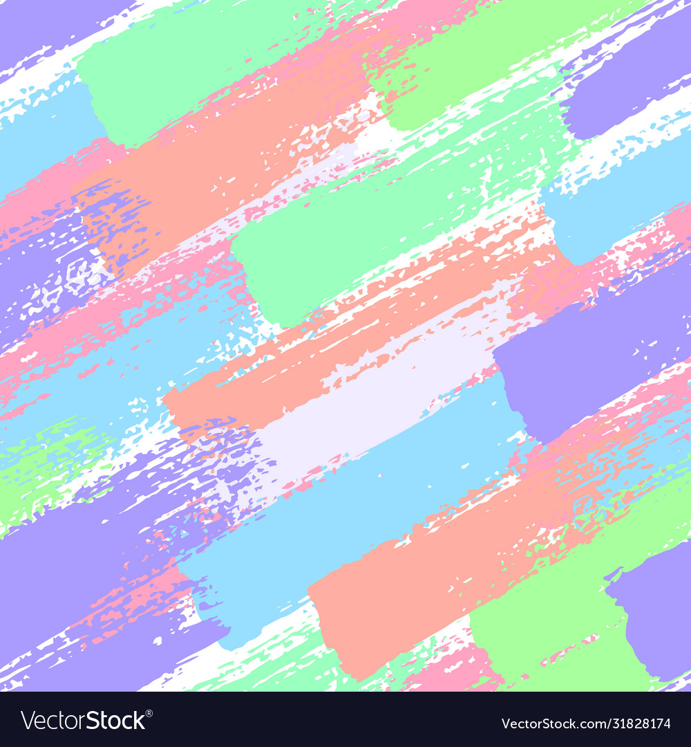 Seamless pattern with pastel color brush strokes