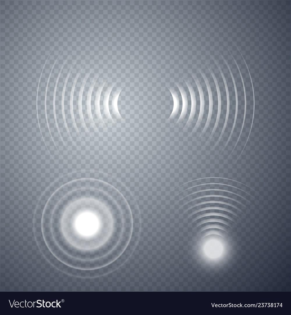 Set glowing sonar waves