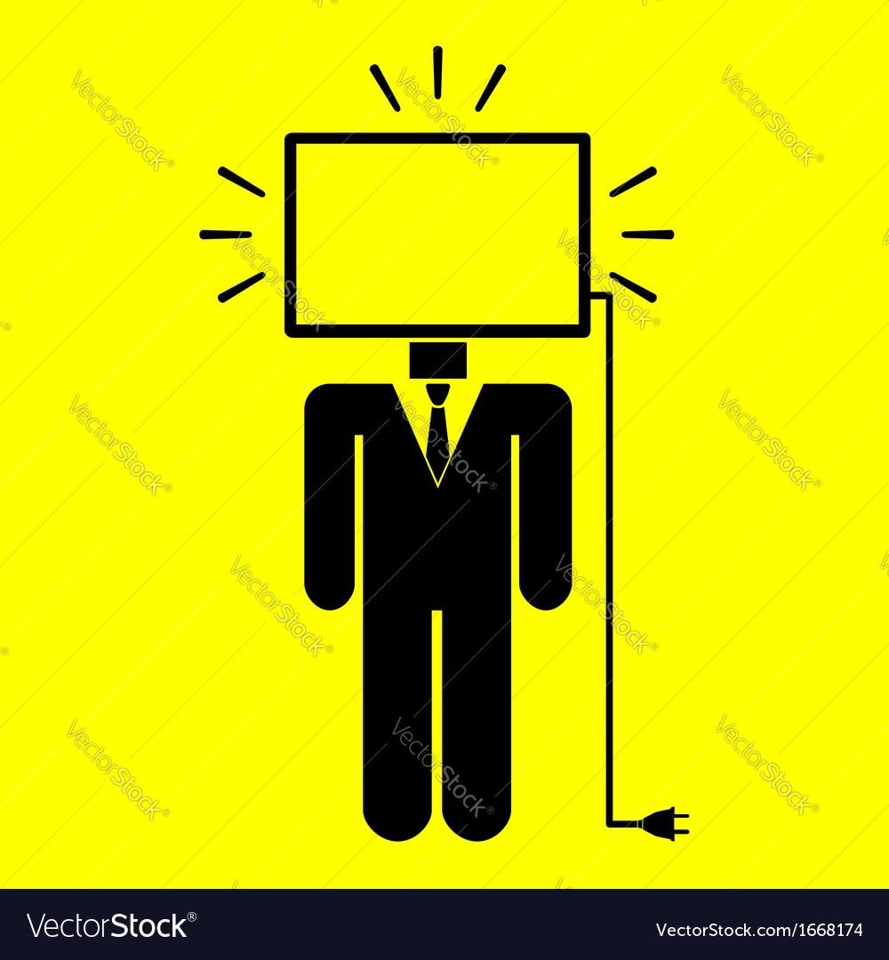 Symbol man monitor