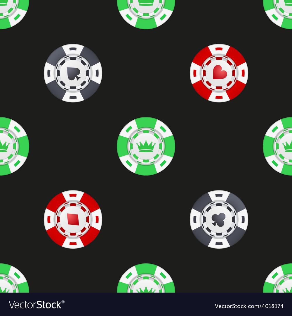 Universal casino chips seamless patterns