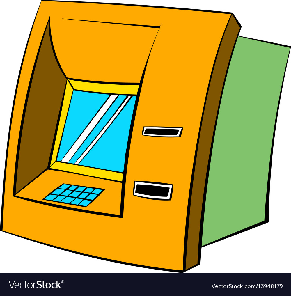 Atm icon cartoon