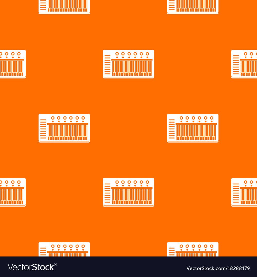 Electronic synth pattern seamless vector image