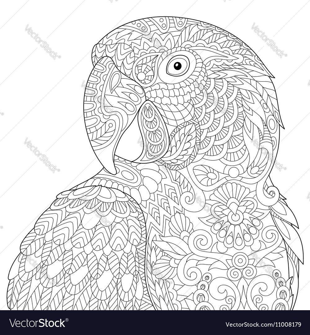 Entangle stylized macaw