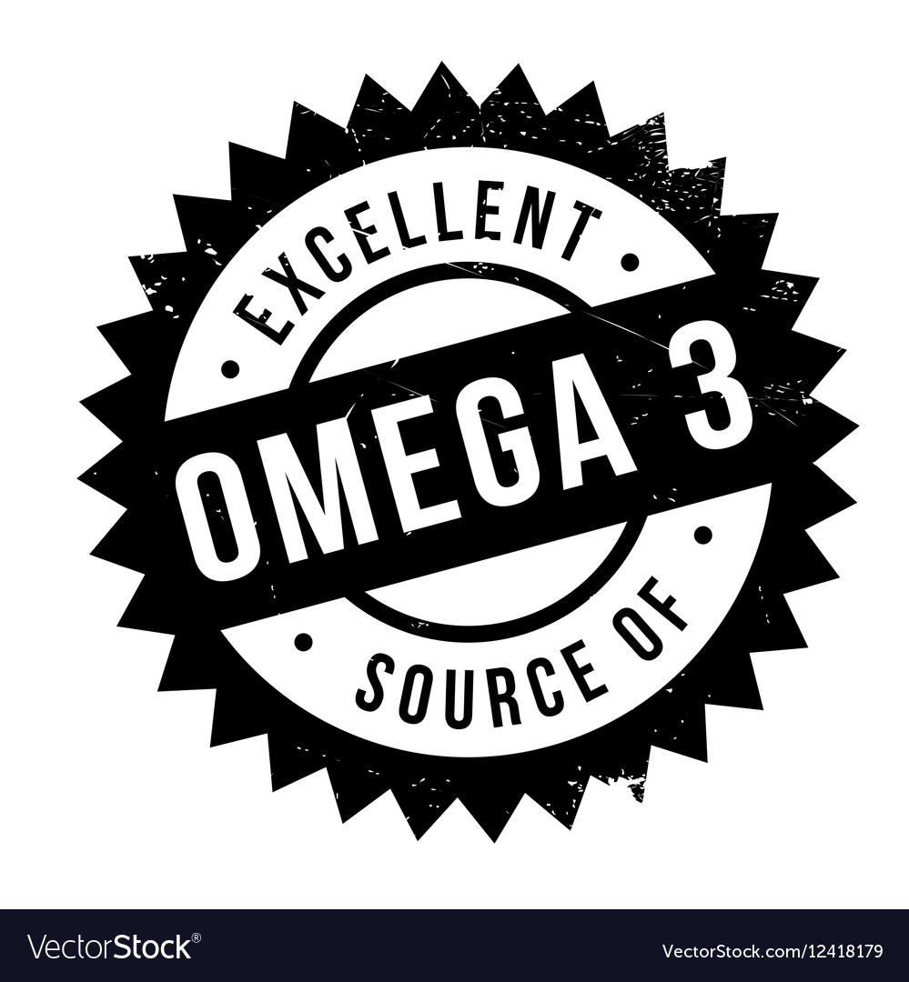Excellent source of omega 3 stamp vector image