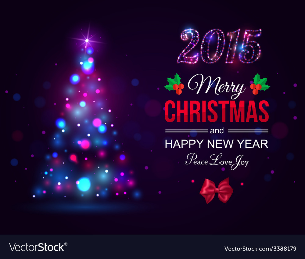 Merry Christmas 2015 celebration concept with xmas