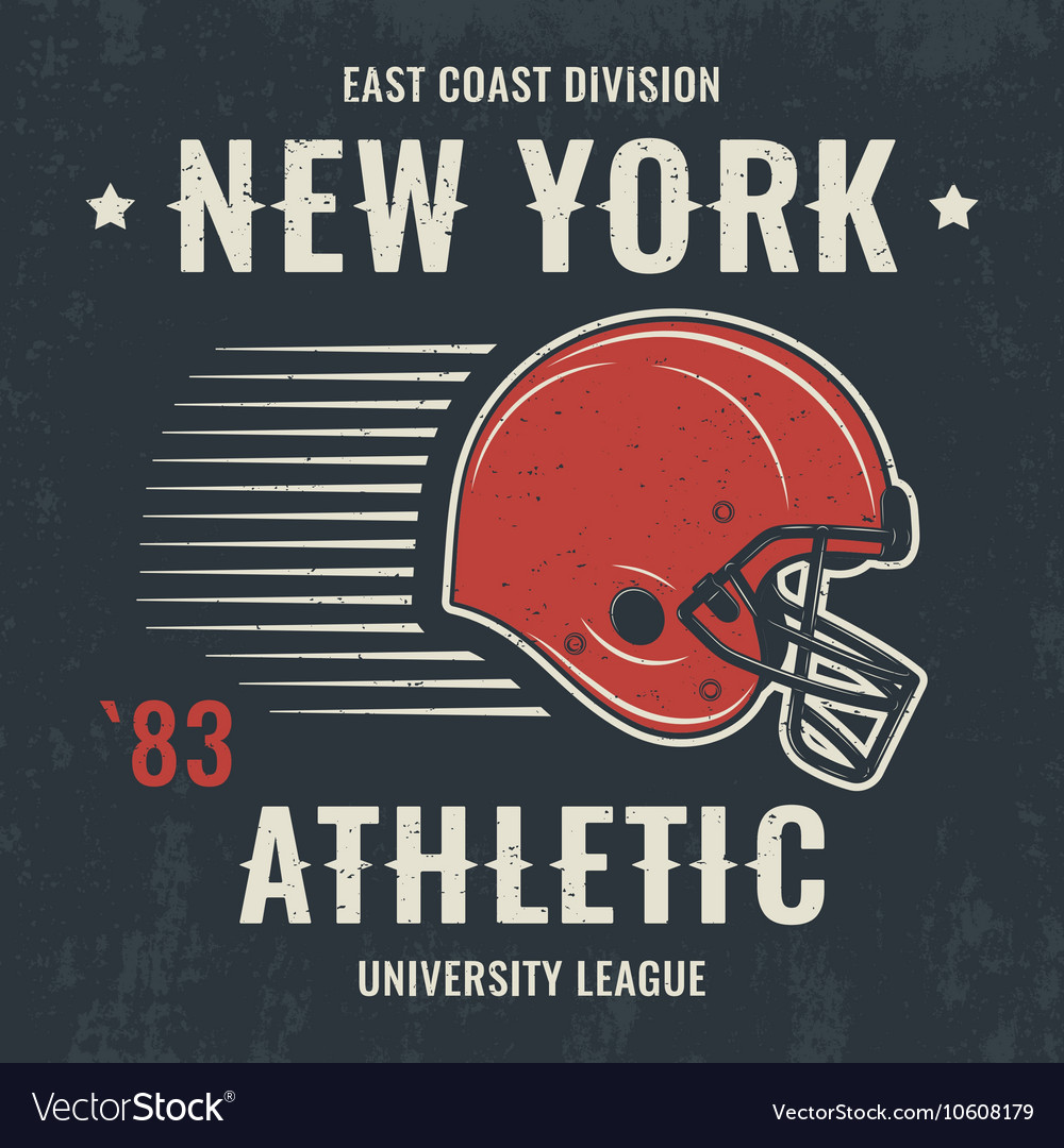 New york t shirt with football helmet