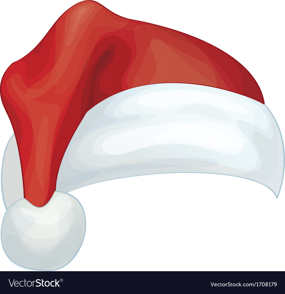 santa hat royalty free vector image vectorstock rh vectorstock com santa hat vector transparent santa hat vector download