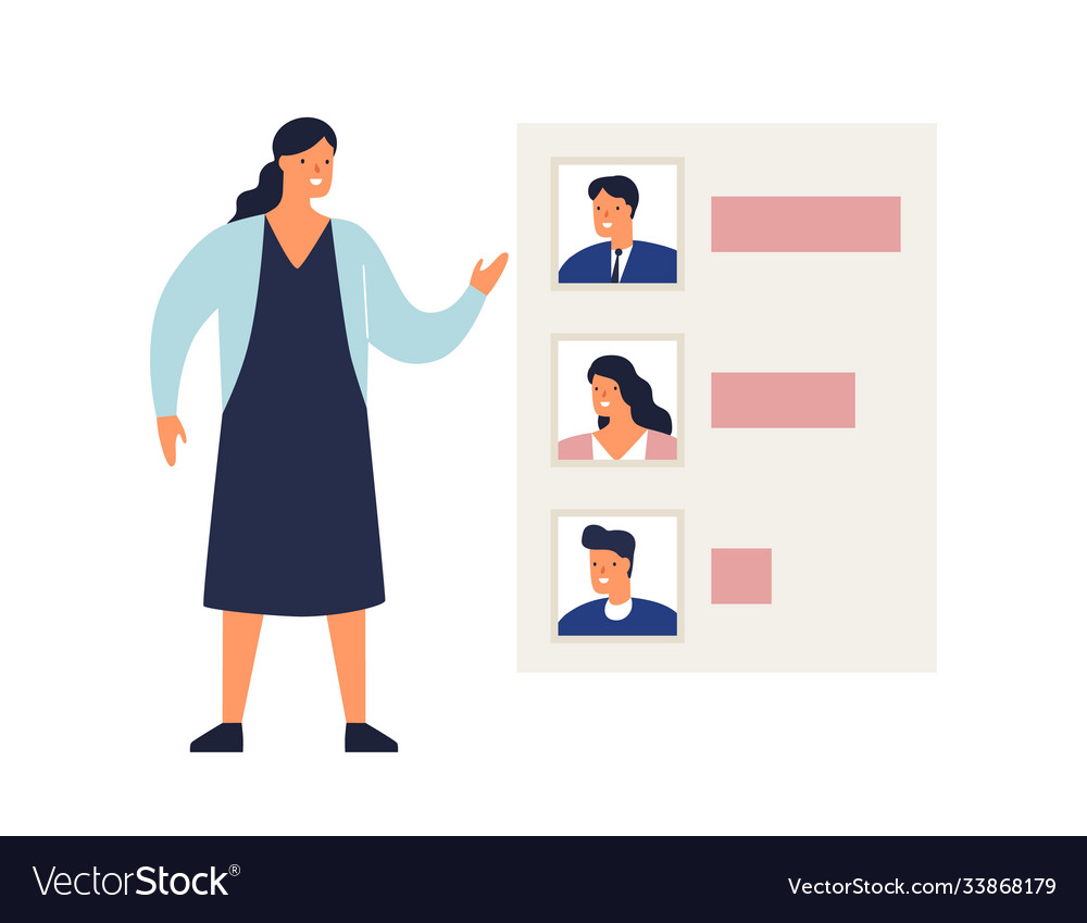 Woman demonstrate results voting or rating
