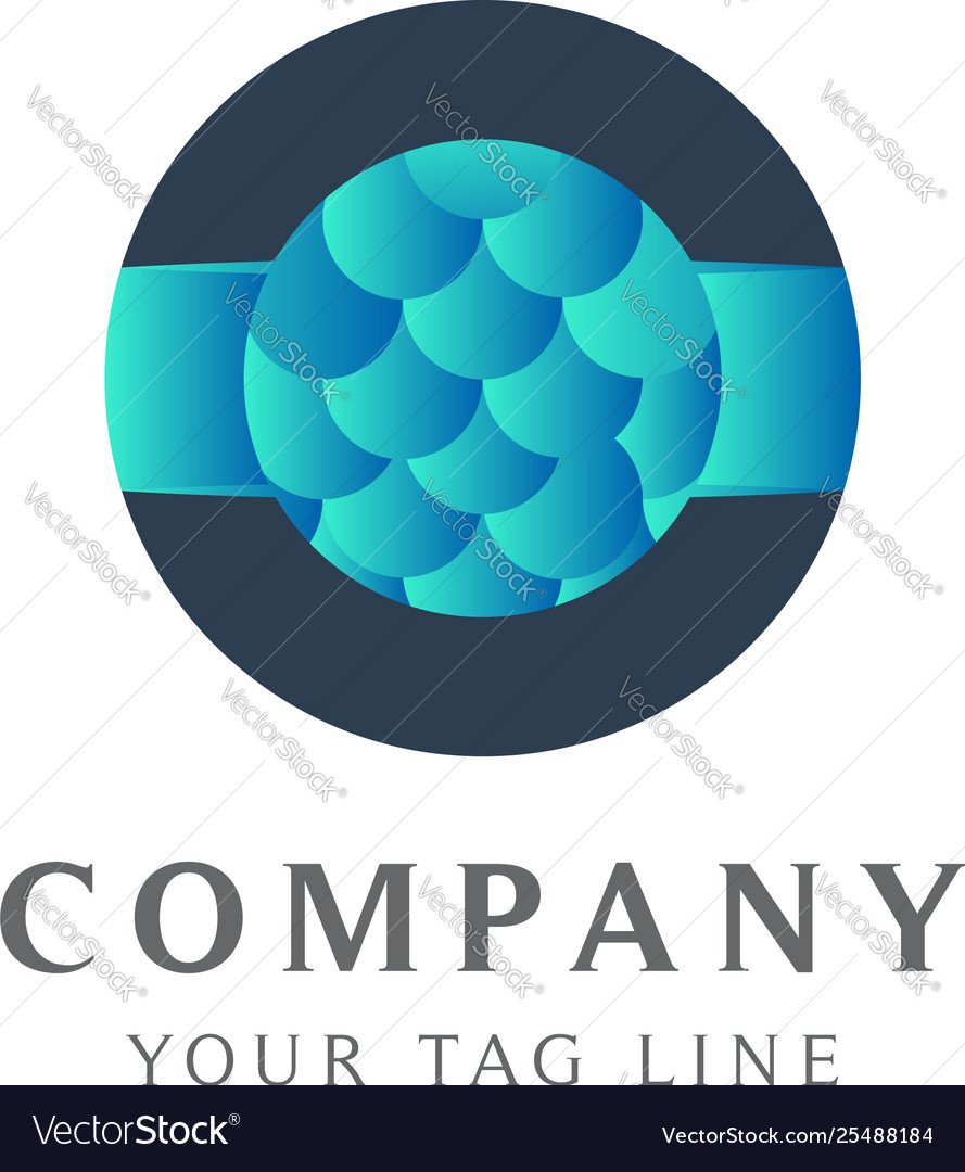 Abstract bubble shaped logo template