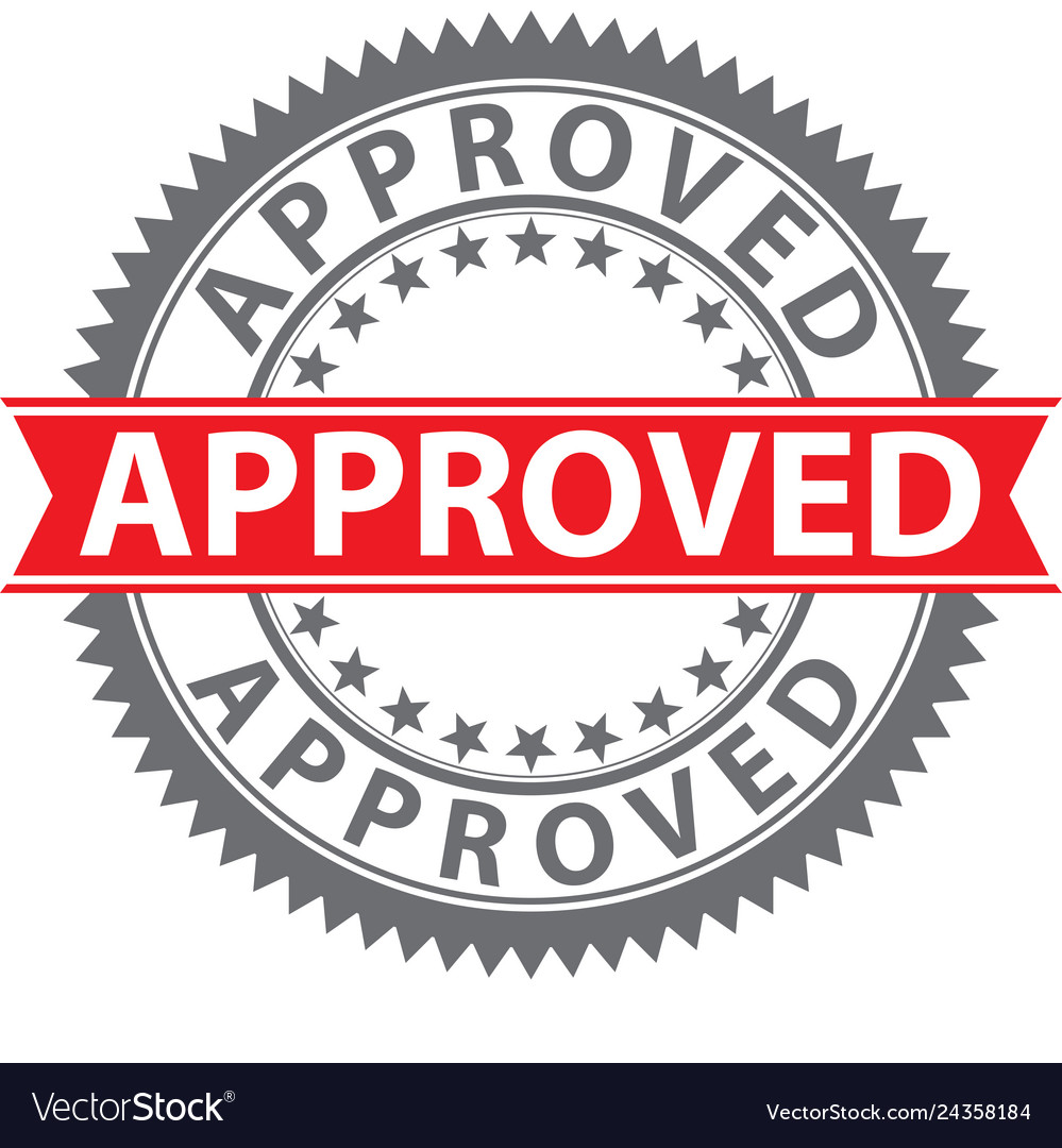 Approved stamp certified badge